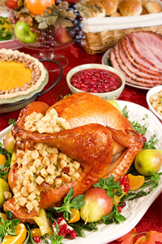 Image of a holiday meal